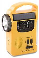 XIAOKOA Dynamo Emergency Solar Hand Crank Self Powered AM/FM/SW NOAA Weather
