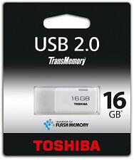 TOSHIBA FLASH PEN DRIVE 16 GB USB STICK 2.0 CHIAVETTA