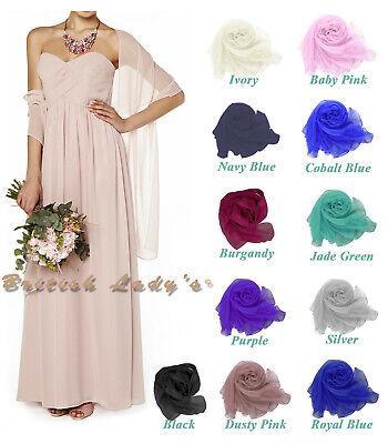 Lady Chiffon Cape Beach Wedding Wrap Cover Up Boho Shawl Bridal Bridesmaid Stole