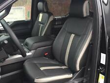 2015 2020 Ford F 150 Xlt Super Crew Leather Seat Covers Black Gray Sema