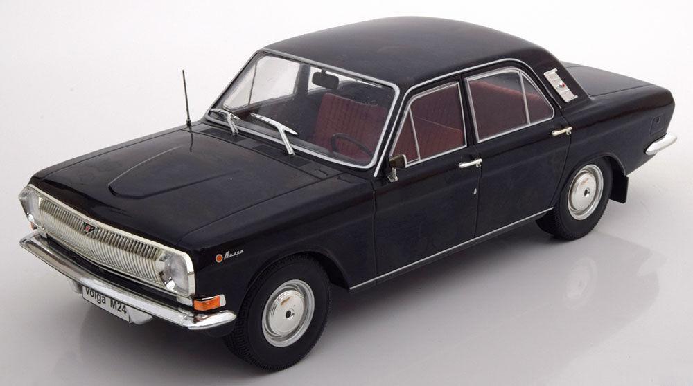 Model Car Group 1967-1992 Volga GAZ M24 Black color in 1 18 Scale. New Release