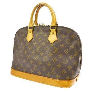 Authentic Louis Vuitton Alma Hand Tote Bag Purse Monogram M51130 ts ... 886306370c8ca