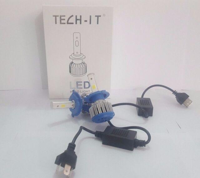 KIT H4 LAMPADE A LED CREE FULL LED 3600x2 LUMEN 6000K DIGITALE 12V 24V AUTO 40W