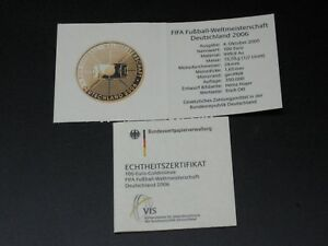Authenticity-Certificate-For-Die-Coin-Gold-Frg-Football-World-Cup-2005