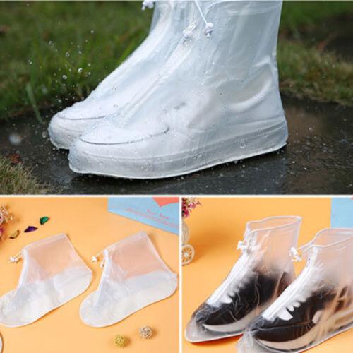 Reusable Rain Shoe Cover Flat Waterproof Overshoes Anti-slip Rain Boot Protector