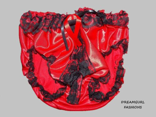 SATIN LACE KNICKERS WITH PEEP OPEN FRONT FANCY DRESS SISSY MAID LOLITA COSPLAY