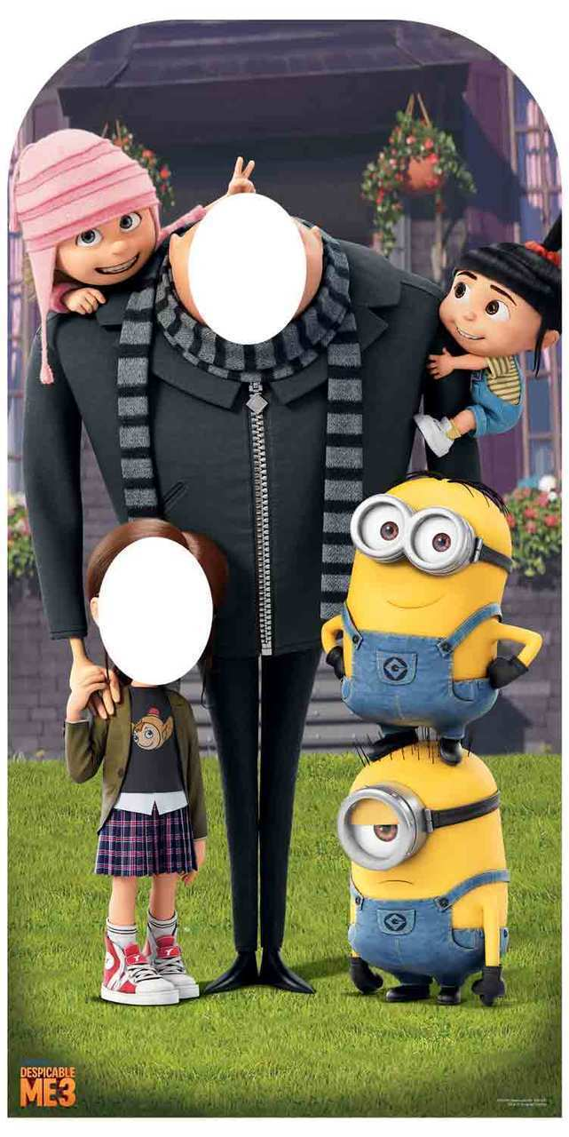 Despicable Me Gru with Minions Stand-In Cardboard Cutout Great for party photos