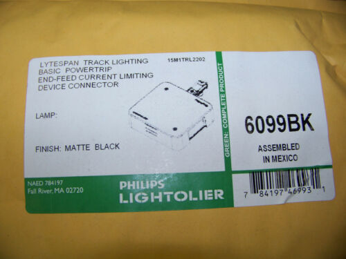 Philips Lightolier Lytespan Powerstrip Current Limiting Device Connector 6099BK
