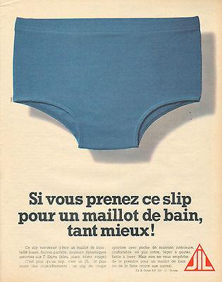 R Publicité Advertising 1968 Les Slips Sous Vetement homme