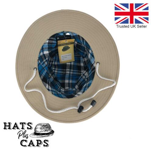Cotton Traveller Fedora Sun Hat Wide Brim Canvas Outback Dentons Hat