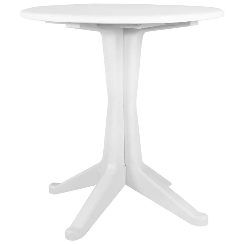 VidaXL Mesa de Jardín de Plástico 70 cm blancoo Comedor Casa Hogar Patio Porche