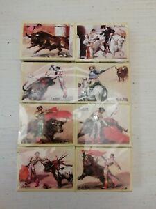 Lot Matchbox 8 Boîtes Allumettes Plaza De Toros Battle Corrida Espagne Gerona