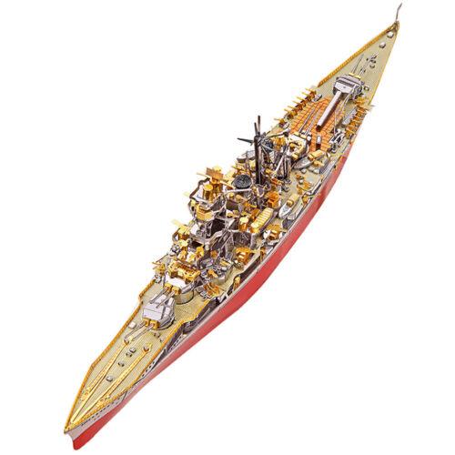 Details about  /New 3D Metal Puzzle Japan Kongou War Battleship Laser Cut Jigsaw Building Toys