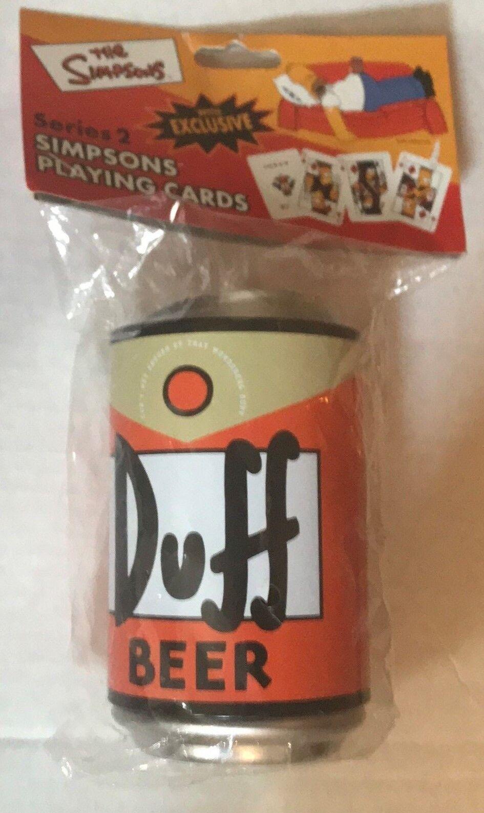 Jeu de cartes Simpsons Duff Beer Playing Cards Poker