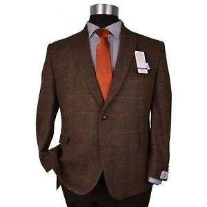 Tweed Jacket Wool Pure Scott Olive New COqtwwp