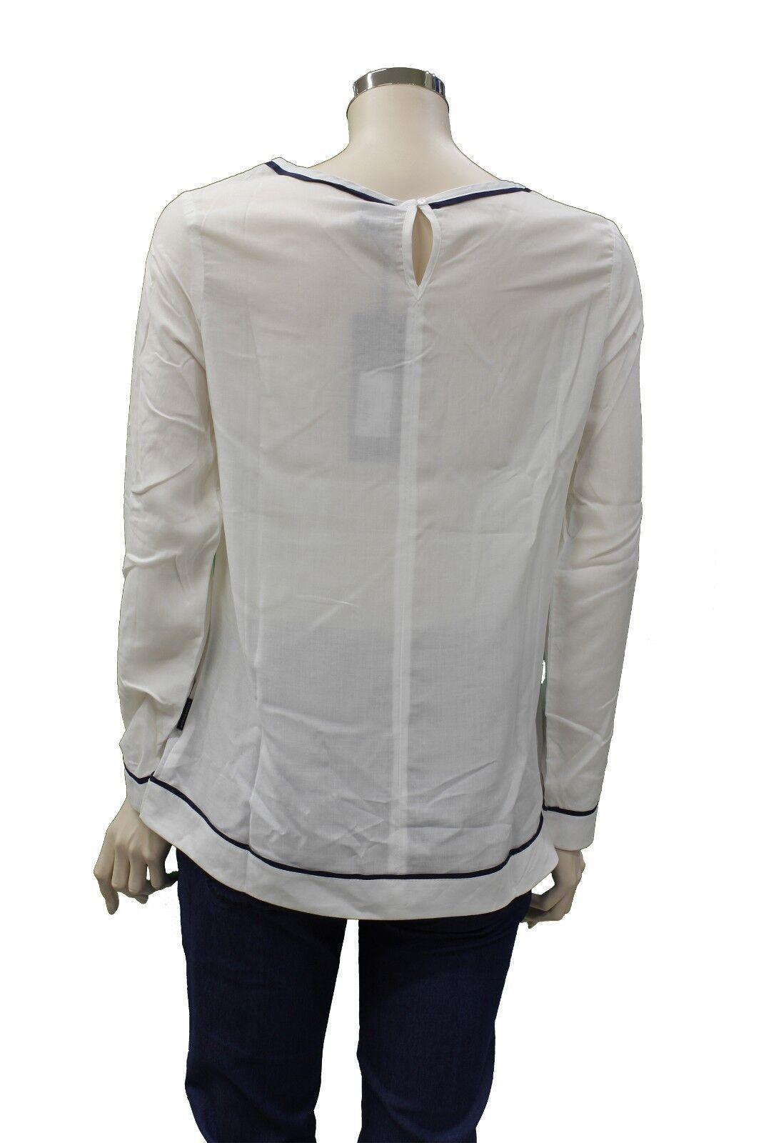 T-Shirt da da da donna bianca lunga North Sails Boatneck girocollo manica lunga moda 915732