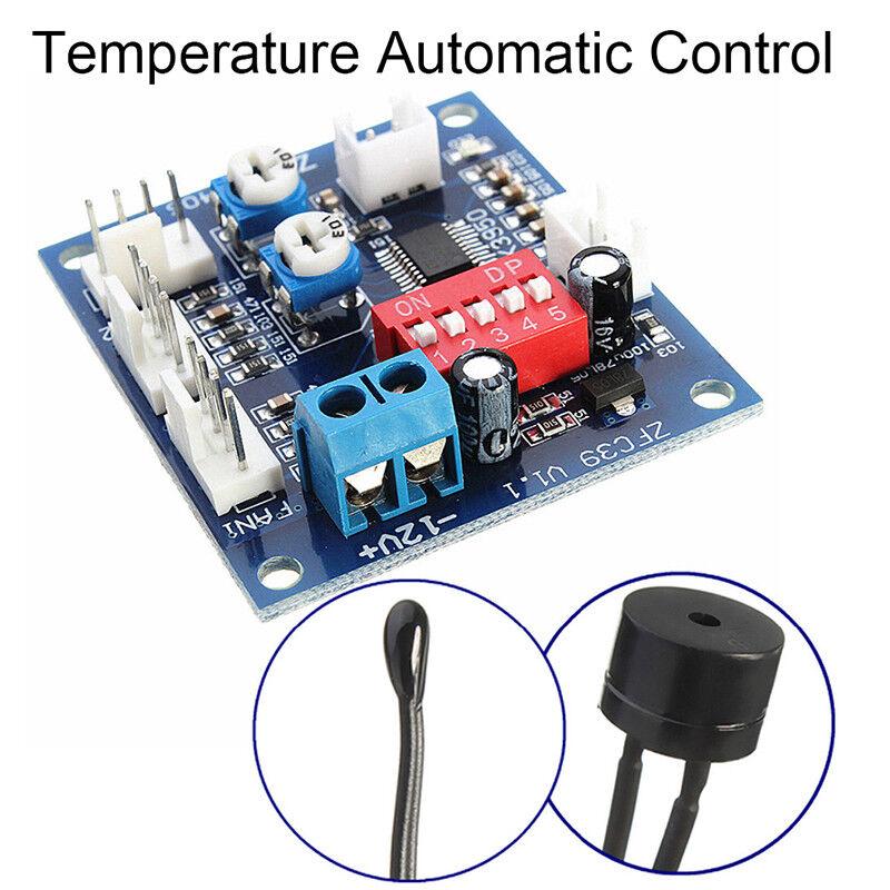 Automatic Temperature Control CPU Fan Speed DC Controller 12V PWM PC Board  NITC