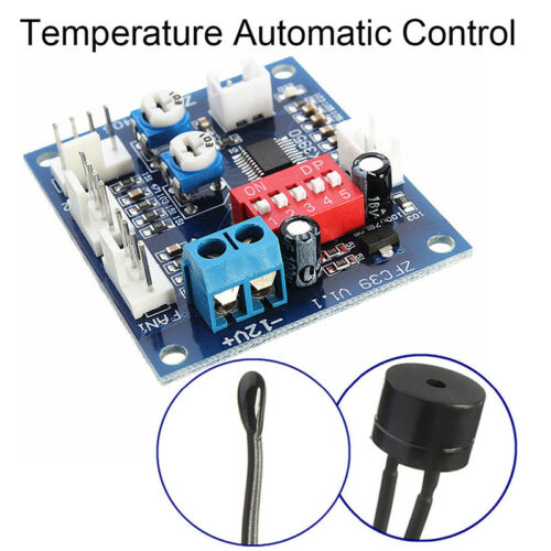Automatic Temperature Control CPU Fan Speed DC Controller 12V PWM PC BoardBPC
