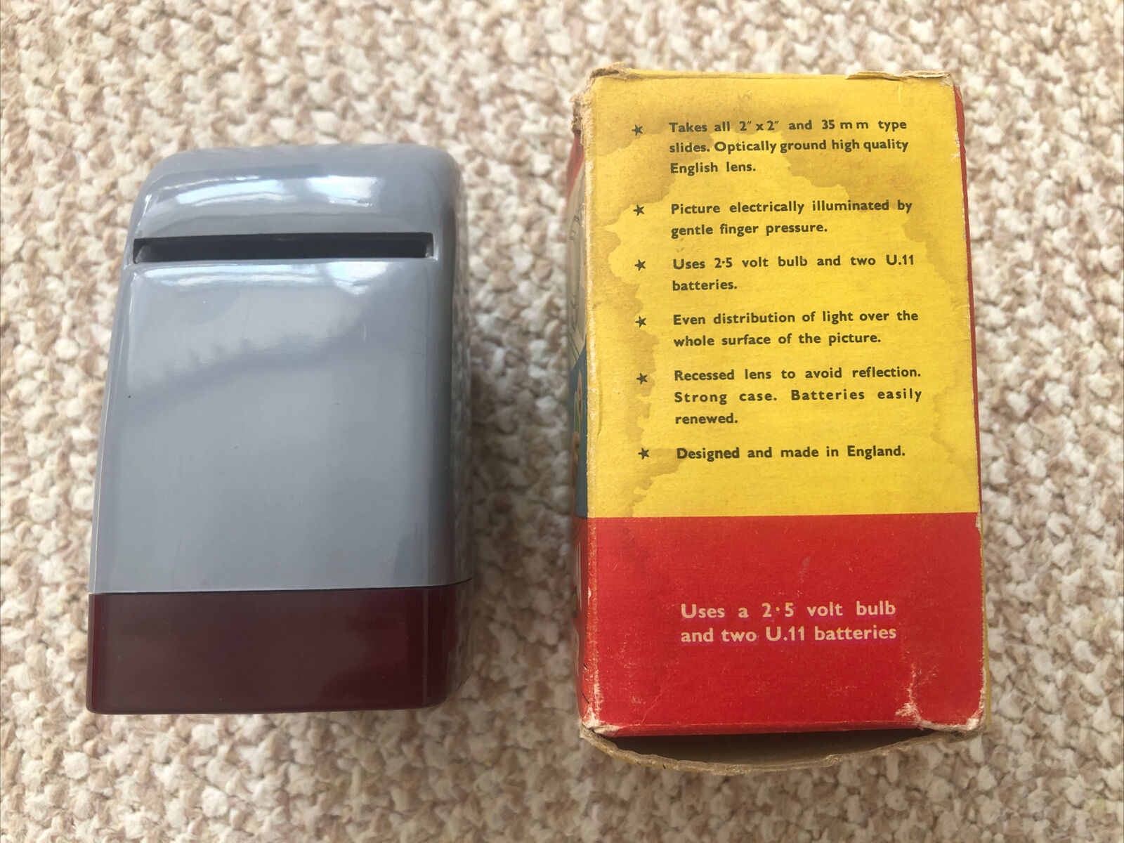 Vintage 1950/60s W&G Panorama Light Up 35mm Photo Slides Viewer Box Working
