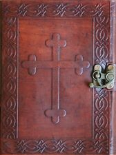 Handmade Celtic Cross Tooled Leather Blank Journal Diary Notebook Book (558)