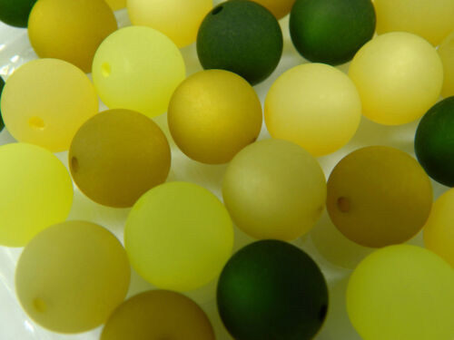 20 30 Stück POLARIS Perlen 10mm groß GRÜN olive khaki moos Mix 5 Farben