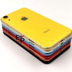 Para-iPhone-Marco-de-chasis-de-Vidrio-Trasero-Xr-Carcasa-Bateria-Tapa-De-Puerta-botones-nuevo