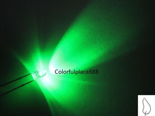 50pcs 3mm Green Candle Light Flicker Ultra Bright Flickering LED Leds Lamp Bulb