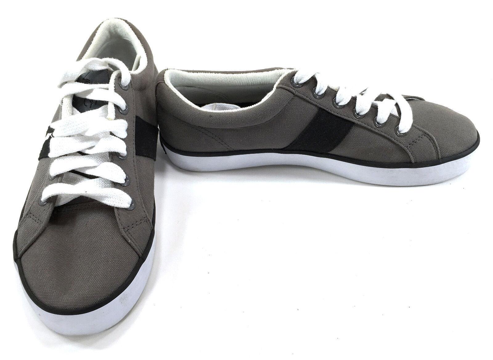 Polo Ralph Lauren Gray Schuhes Giles Athletic Canvas Gray Lauren Sneakers Größe 8 4442b1