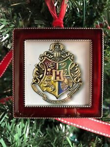 Harry Potter Hogwarts Crest Square Red 3 Metal Ornament 2w