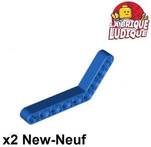 Lego Technic courbé incliné bleu//blue 6629 NEUF 6-4 2x Liftarm 1x9 bent