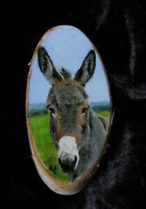 Original-Acryl-Bild-Esel-Donkey-painting-animals-Art-von-Angela-Franke