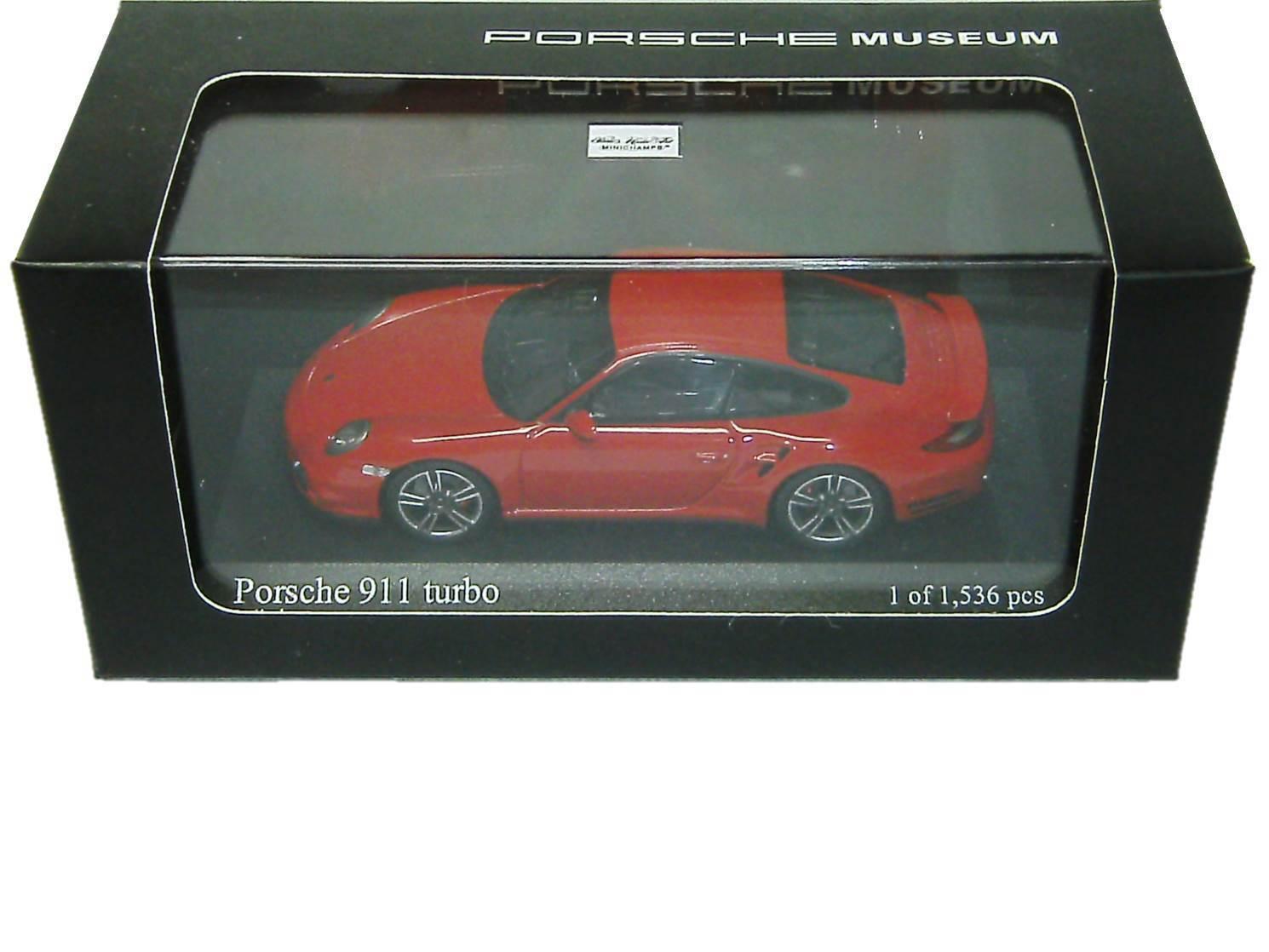 Porsche Porsche Porsche 911 turbo rojo teja museo Edition Minichamps 1 43 map02036514 nuevo 9bd251