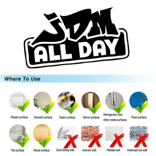 JDM All Day Funny Sticker Car Auto Truck Wall Laptop Motorcycle  Vinyl Decal
