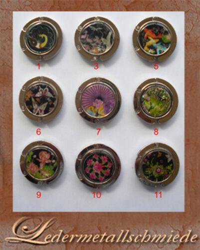 Handtaschenhalter silberfarben mit Motiven Nr 1-11 Taschenhalter,Schirmhalter