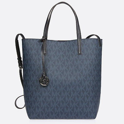 eb25d10c2038 Michael Kors MK Blue Hayley Large Convertible Tote Bag 30h5gh3t1v ...
