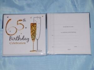 Image Is Loading 65th Birthday Invitations 6 X Cards With Envelopes
