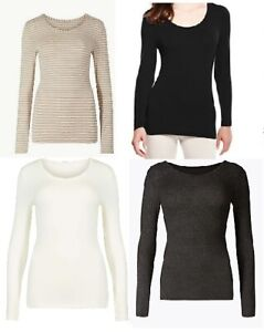 Ladies-M-amp-S-Heatgen-Thermal-Top-Long-Sleeve-Base-Layer-Ski-Winter-Size-SECONDS