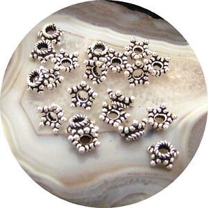 50 Pièces Bali Argent Sterling 5.5x3mm Étoile Perle Capuchons < 742> Aacqoisj-07225456-876817443