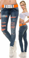 Women New Clubbing Skinny Jeans Ladies Trouser Size 6 8 10 12 14 Sexy Girls Pant