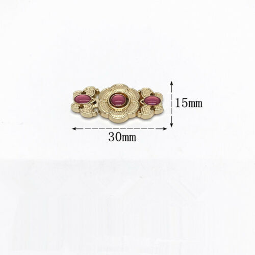 Retro Flowers Chinese Cheongsam Buckle Brooch Sew On Button Clasp Fasteners