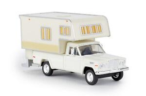 Brekina-19830-Jeep-Gladiator-A-Camper-White-Car-Model-1-87-H0