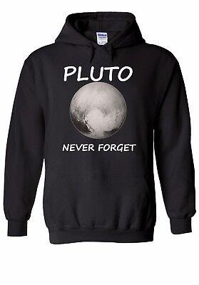 Pluton ne jamais oublier la Nasa Espace Planète Hommes Femmes Unisexe Top Sweat À Capuche Sweat 1624