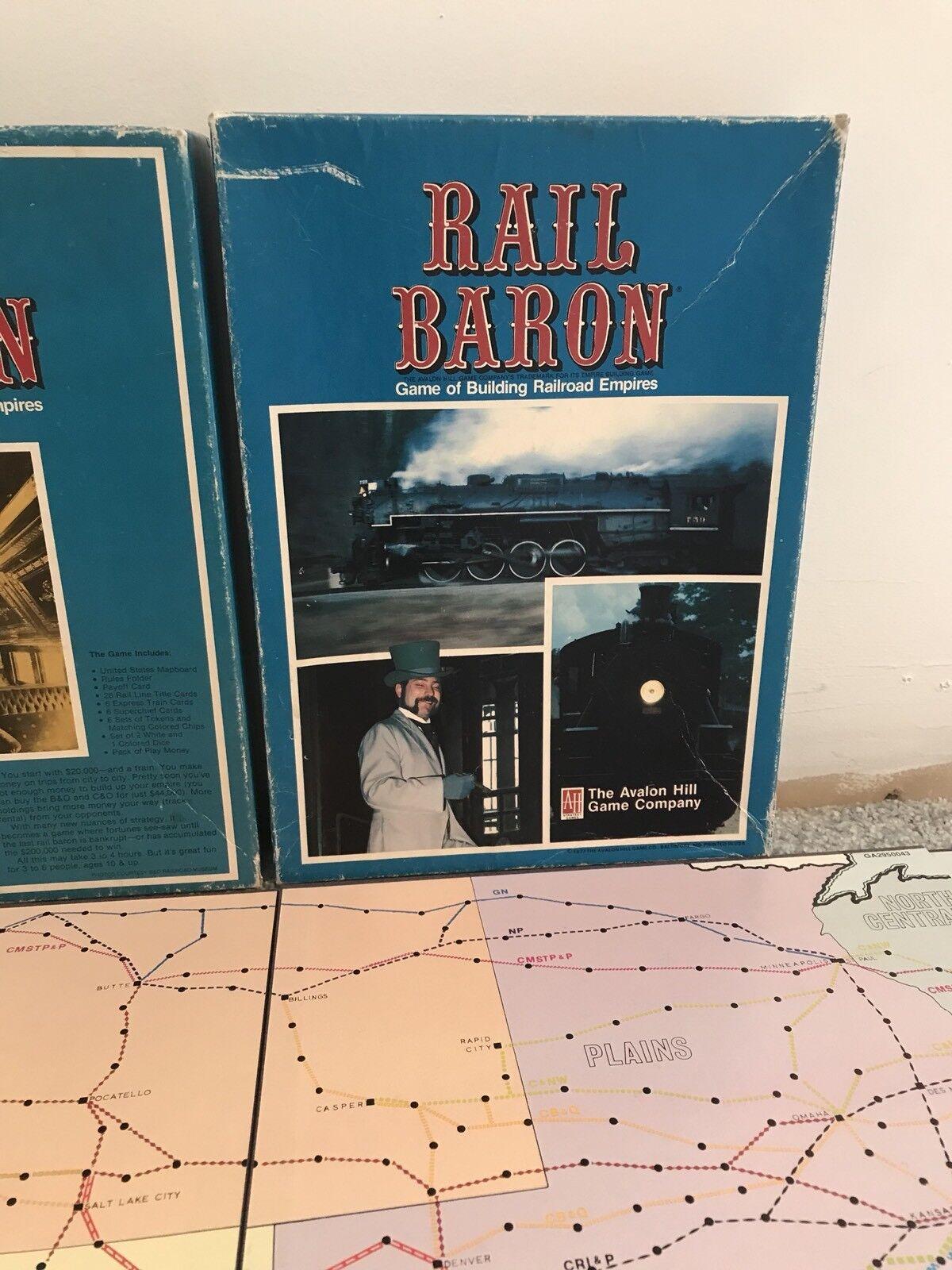 Vintage Rail  Baron tavola gioco Avalon Hill completare Railstrada gioco  risparmiare fino all'80%
