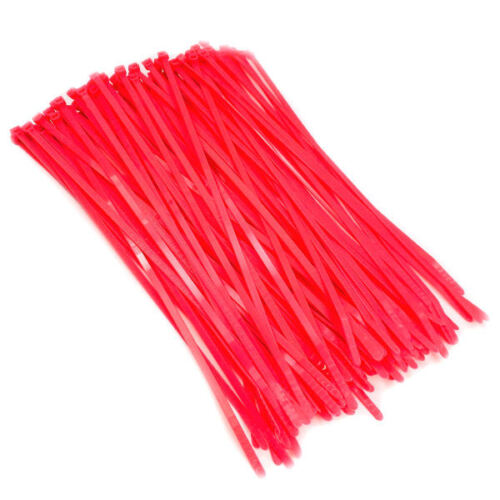 8.5 Fluorescent Pink Color 40# Nylon Cable Zip Ties  100pc Bag