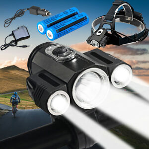 35000LM Bike Front light T6 Led Power Headlamp headlight 18650 Battery + Charger