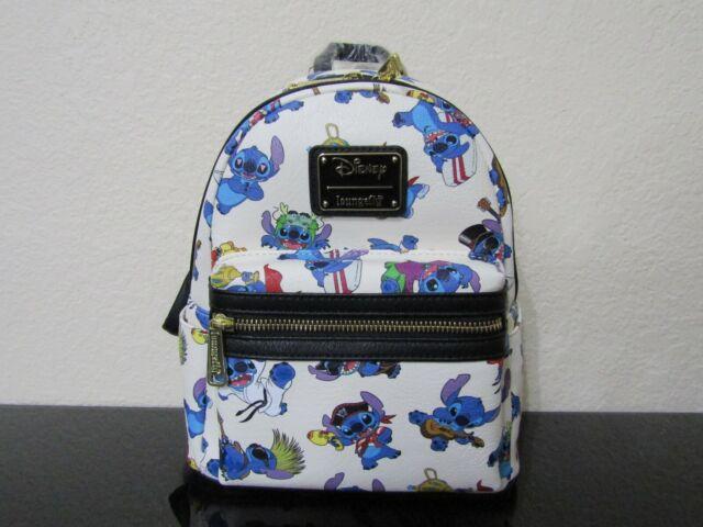 Loungefly Disney Lilo /& Stitch Hawaiian Floral Convertible Mini Backpack Bag