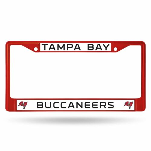 Tampa Bay Buccaneers Chrome License Plate Frame Tag Cover Car//Auto FCC Red