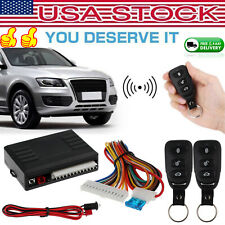 Universal Car Remote Central Kit Door Lock Vehicle Keyless Entry System 12v Us