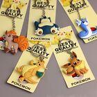 1PC Pokemon Keychain Eevee Snorlax Vulpix Dragonite Dratini Keychain PVC Keyring