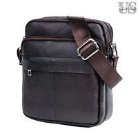 Men's Leather Briefcase Casual Messenger Shoulder Bag Cross-body Handbag